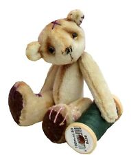 "Scrumble teddy bear sewing pattern by pcbangles. Size 3""  Tea dying tutorial inc"