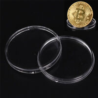 10x Coins Plastic Boxes 40mm Protect Holder Box Case Boxes Storage Collectionpj0
