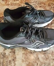 MENS SAUCONY Ignition 4 BLACK/ WHITE Athletic Running Walking Shoes SIZE US 11