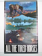 Vintage ALL THE TIRED HORSES Bob Dylan Poster by Joe McHugh Political 1970 NOS