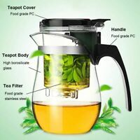 Tea Kettle 1L/750ml Glass Teapot Tea Maker Tea Infuser Filter Tea Strainer Pot