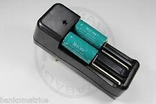 """2 PILES ACCUS RECHARGEABLE CR123A 16340 3.7V 1200mAh + CHARGEUR """" RAPIDE """""""