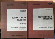 INGEGNERIA MECCANICA COSTRUZIONE DI MACCHINE ELEMENTI VOL.1 - 2 MASSON E. MASSA