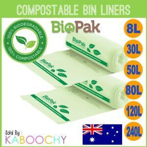 Biopak Compostable Bin Liners. Biodegradable Kitchen Tidy Rubbish Bags BULK