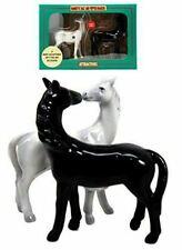 Decorative Salt Pepper Shakers Kitchenware Ceramic Black and White Horse Couple
