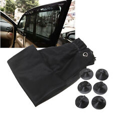Black Car Sun Shade Window Curtain UV Protection Mesh Fabric 48*74cm Suction Cup