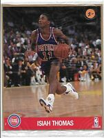 8 x 10 Isiah Thomas Detroit Pistons Sealed Hoops Action Photo