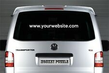 LARGE CUSTOM WEBSITE TEXT PERSONALISED VINYL DECAL CAR STICKER PROMOTIONAL