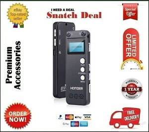 HOMDER DIGITAL VOICE RECORDER 8GB USB PROFESSIONAL DICTAPHONE VOICE RECORDER HD