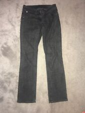 River Island Low Rise Black Dark Grey Denim Straight Leg Jeans Size 8