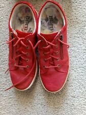Women's Born Red Leather Tennis Shoes Size 8. Great Condition