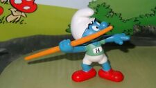 Smurfs Olympic Javelin Thrower Smurf 20744 Rare Original Vintage Display Figure