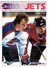 1986 Winnipeg Jets Home vs New York Rangers NHL Hockey Program #106