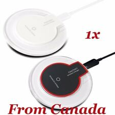 Slim Qi Wireless 2A Charger Charging Mini Pad iPhone Galaxy S6 S7 edge + S8 Plus