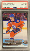 2016 2017 Jesse Puljujarvi PSA 10 UPPER DECK UD YOUNG GUNS ROOKIE CARD RC