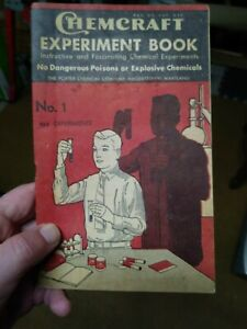 Vintage 1937 ChemCraft Experiment Book - No. 1 162 experiments porter chemical