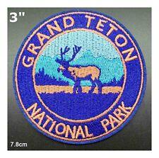 Grand Teton National Park Patch Souvenir Travel Embroidered Iron / Sew-on