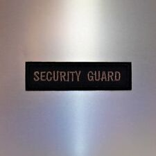 Security Guard Patch — Iron On Badge Embroidered Motif — Dressup Officer Uniform