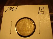 1961 - Canada - silver 10 cent coin - Canadian dime