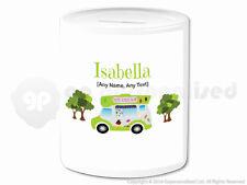 Personalised Gift Ice Cream Van Money Box Cone Scoop Driver Vendor Present #5