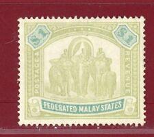 Malaya 1900 #14, $1 Elephant, Mint, No Gum, SCV $170.00