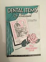 Dental Items Of Interest N° 10 A Monthly Giornale October 1938