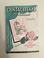 Dental Items of Interest n°10 A monthly Journal October 1938