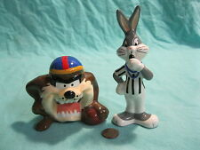 Bugs Bunny Taz Football Referee Salt and Pepper Shakers Warner Bros           15