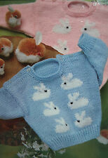 Baby's Jumper with Rabbit Motif Knitting Pattern (BB08)