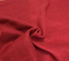 MARK & SPENCER / NEXT RED CHENILLE UPHOLSTERY FABRIC 1.3 METRES