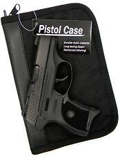 PISTOL GUN CONCEALMENT STORAGE CASE w/ EXTRA MAG HOLDER for GLOCK 26 27 42 43
