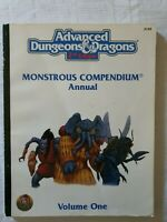 AD&D Advanced Dungeons And Dragons 2nd Edition Monstrous Compendium Volume 1