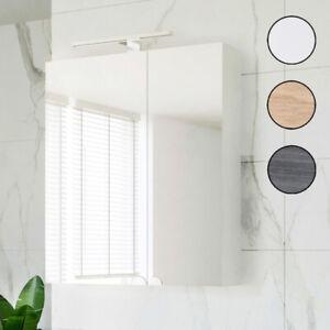 Planetmöbel Badezimmermöbel Badmöbel Spiegelschrank 60cm mit LED Leuchte