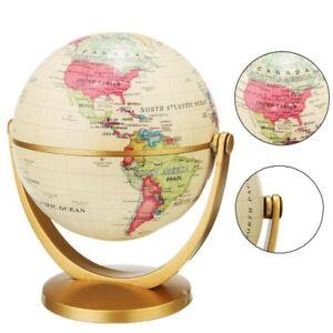 Vintage English Edition Globe World Map Decoration Earth Globe With Gold Base
