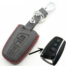 Leather Car Key Cover For Hyundai Elantra Sonata Tucson IX45 Santa Fe Key Shell