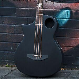 Lindo Left Handed Neptune Short Scale Slim Electro Acoustic Bass Guitar Matte BK