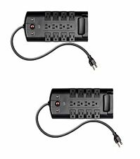 2X -12 Outlet Rotating Power Surge Block 10ft Cord, 4320 Joules surge protector