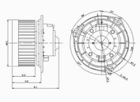 HVAC Blower Motor Front TYC 700110