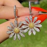Mode Gänseblümchen Blumen Ohrringe Creolen Schmuck Frauen Geschenke baumeln D3S5