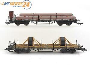 E64 Roco H0 47193 47194 2x Güterwagen Rungenwagen DRG K.Bay.Sts.B. / NEM