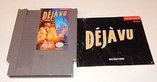 Deja Vu (Nintendo Entertainment System, 1990) NES Cartridge + Manual