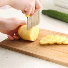 Potato Slicer Cutter Wave French Fries Cutter Stainless Steel Kitchen Gadget