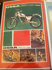 Vintage Ossa Trials Bike motorcycle Poster Man Cave Garage Art Fathers Day