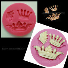 Princess Queen king Crown Tiara silicone mold 3 cavities. Molde Corona Princesa