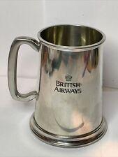 More details for british airways vintage tankard made in sheffield / pewter with hallmark