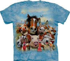 The Mountain Farm Selfie horse donkey cow pig goat rooster ADULT T-Shirt SM - 3X