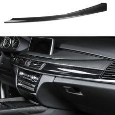 100%Real Carbon Fiber Console Frame Stripe Dec Cover Trim For BMW X5 X6 F15 F16