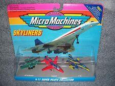 SUPER PILOTS COLLECTION #11 Micro Machines Set    F-16,Leopard, SE-5a Biplane