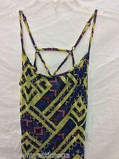 Womens Love Fire Clothing Yellow Side-Split Maxi Dress NWT Size Medium