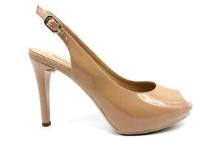 Sandali da donna Nero Giardini 805415 con tacco alto e plateau pelle taglia 37